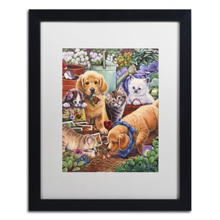 Abril Andrade 'Sacred Heart' Matted Framed Art