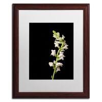 PIPA Fine Art 'White Snapdragons' Matted Framed Art