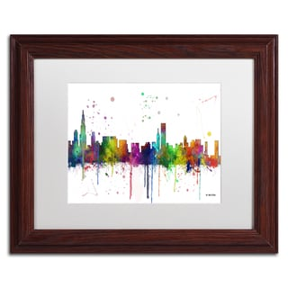 Marlene Watson 'Chicago Illinois Skyline Mclr-1' Matted Framed Art