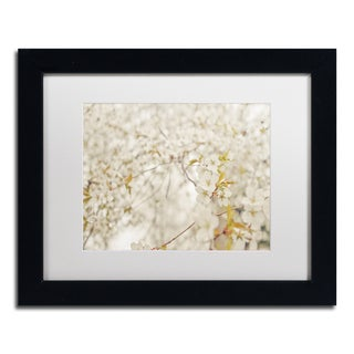 Ariane Moshayedi 'White Cherry Blossoms' Matted Framed Art