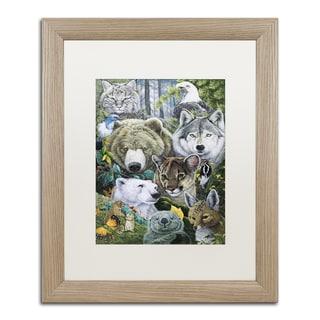 Jenny Newland 'Grandpa's Puppies' Matted Framed Art