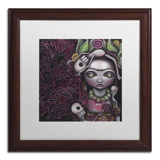 Abril Andrade 'Red Skeleton' Matted Framed Art