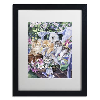 Abril Andrade 'Justyna' Matted Framed Art