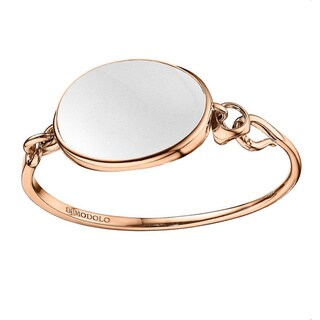 Di Modolo 18k Rose Goldplated Sterling Silver White Agate Bangle Bracelet
