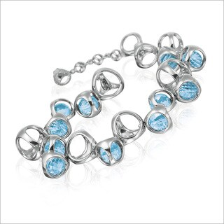 Di Modolo Rhodium-plated Sterling Silver Blue Quartz Bracelet