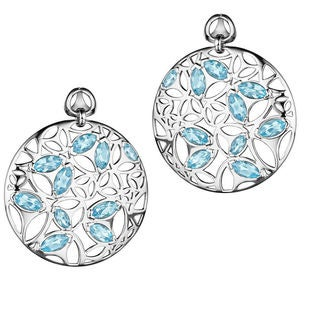 Di Modolo Rhodium-Plated Sterling Silver Blue Quartz Drop Earrings