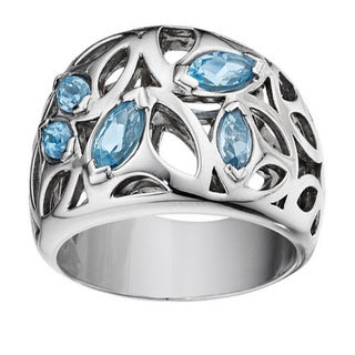 Di Modolo Rhodium-plated Sterling Silver Blue Quartz Ring