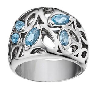 Di Modolo Rhodium-plated Sterling Silver Blue Quartz Ring