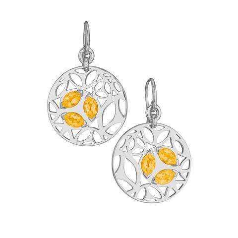 Di Modolo Rhodium-plated Sterling Silver Golden Quartz Drop Earrings
