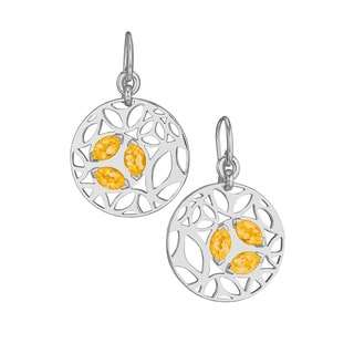Di Modolo Rhodium-plated Sterling Silver Golden Quartz Drop Earrings