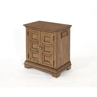 Standing Room Only 2 Door Nightstand Oak