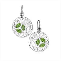 Di Modolo Rhodium-plated Sterling Silver Green Quartz Drop Earrings