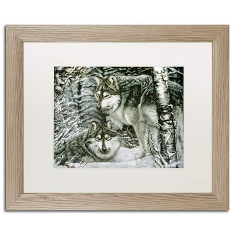 Jenny Newland 'Kitty Bakery' Matted Framed Art