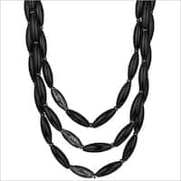 Di Modolo Rutheniumplated Sterling Silver Black Agate Sahara Necklace