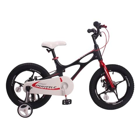 RoyalBaby Magnesium Space Shuttle 16-inch Kids' Bike, with Training Wheels and Kickstand - 16