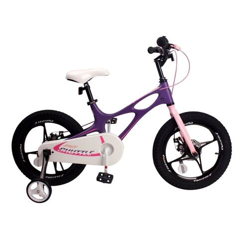RoyalBaby Magnesium Space Shuttle 16-inch Kids' Bike, with Training Wheels and Kickstand - 16