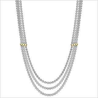 Di Modolo 18k White Gold over Sterling Silver Triple Necklace