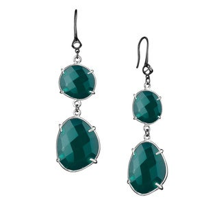 Di Modolo Black Rhodium-plated Sterling Silver Green Onyx Drop Earrings