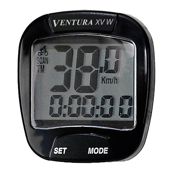 Ventura XVW Wireless 15-function Bicycle Computer