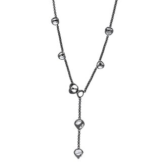 Di Modolo Black Rhodium Plated Sterling Silver Rock Crystal Necklace