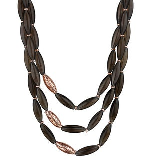 Di Modolo 18k Rose Gold over Silver Smoky Quartz Sahara Necklace