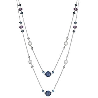 Di Modolo 18k Rose Goldplated Sterling Silver Ricamo with Amethyst Necklace