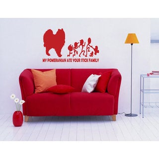 Pomeranian Breed Decal Pet Animal Family Wall Decal Brit Sticker Dog Puppy Sticker Decal size 33x52