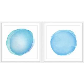 Blue Orbs Diptych