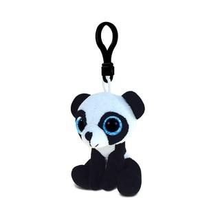 Puzzled Inc Soft Stuffed Plush6-inch Big-Eye Panda Backpack Clip