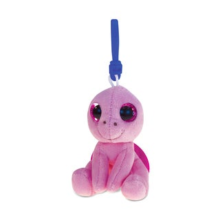 Puzzled Pink 6-inch Sea Turtle Soft Stuffed Plush Big-Eye Backpack Clip