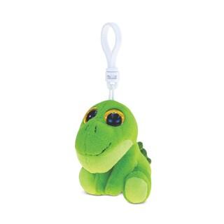 Puzzled Green Dino 6-inch Soft Stuffed Plush Big-eye Backpack Clip