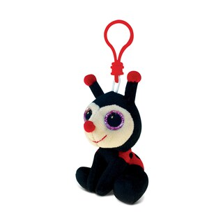 Puzzled Polyester 6-inch Ladybug Soft Stuffed Plush Big-Eye Backpack Clip