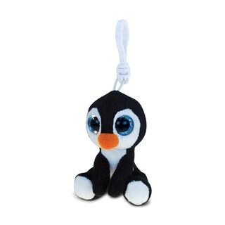 Puzzled Penguin 6-inch Soft Stuffed Plush Big-eye Backpack Clip