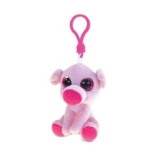 Puzzled Big-eye Pig Multicolor Polyester 6-inch Backpack Clip