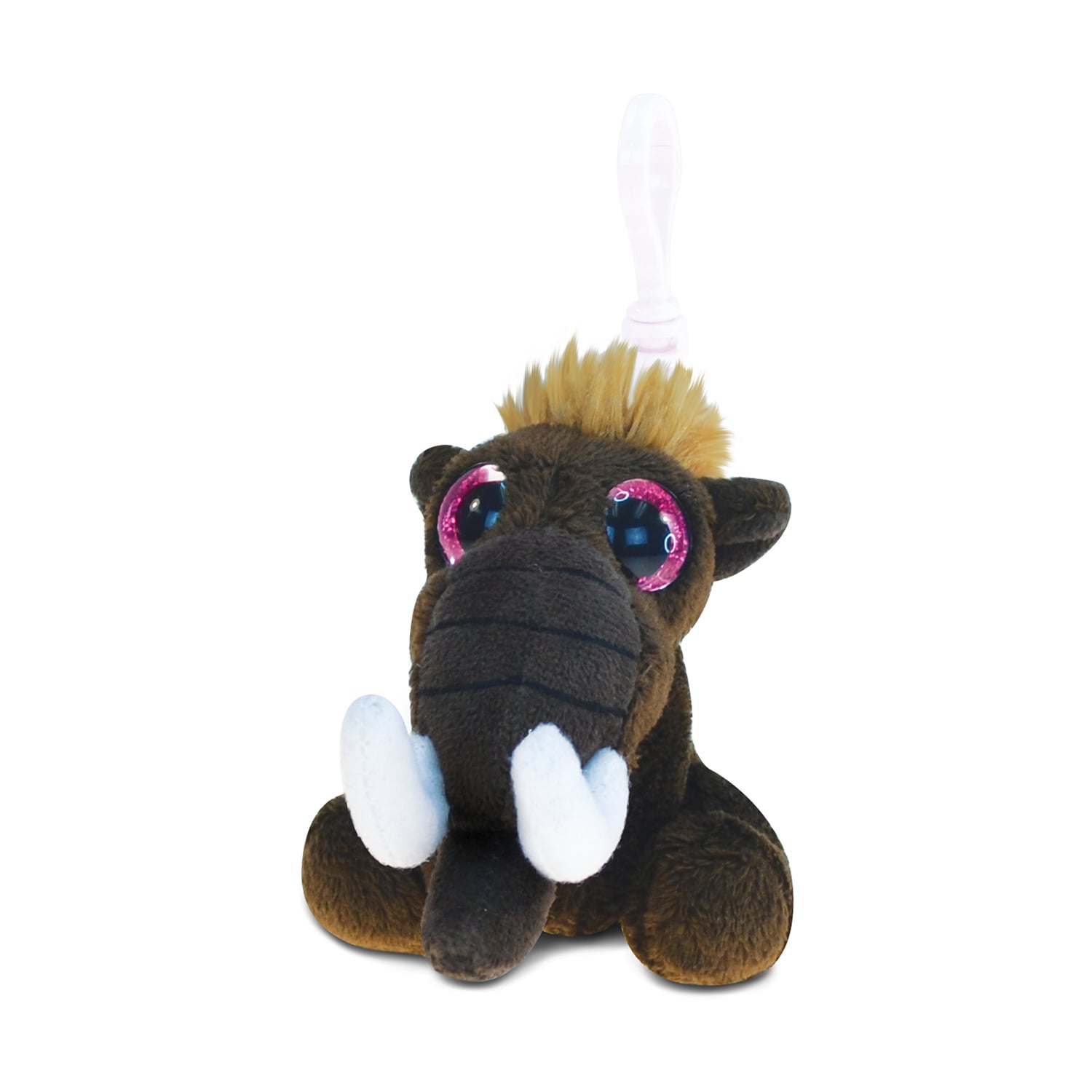 Puzzled Big-eye Mammoth Polyester 5.5-inch Plush Backpack...