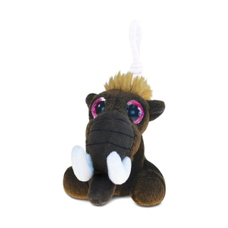 Puzzled Big-eye Mammoth Polyester 5.5-inch Plush Backpack Clip