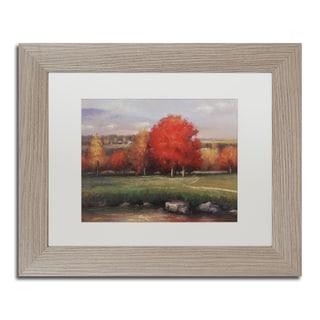 Daniel Moises 'Sunset' Matted Framed Art