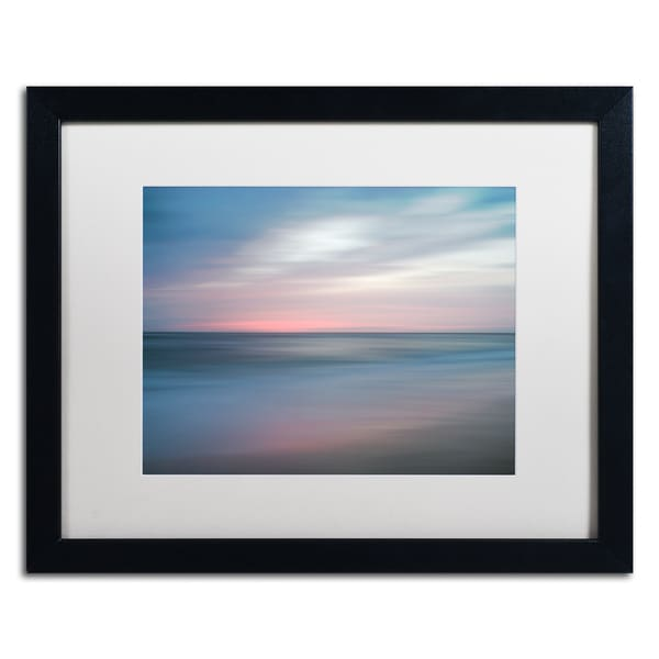 PIPA Fine Art 'The Colors of Evening on the Beach' Matted Framed Art