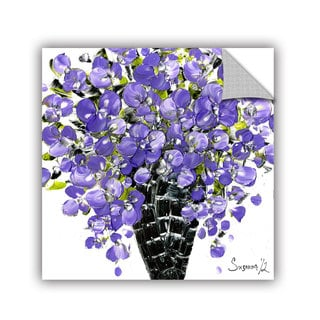 ArtAppealz Susanna Shaposhnikova's 'Purple Bouquet 2' Removable Wall Art Mural
