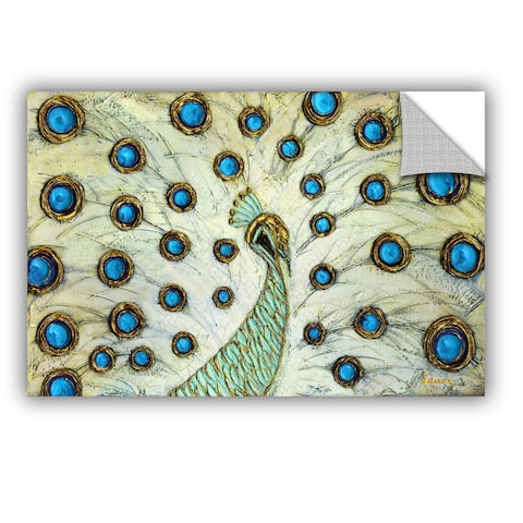 ArtAppealz Susanna Shaposhnikova's 'Peacock' Removable Wall Art Mural