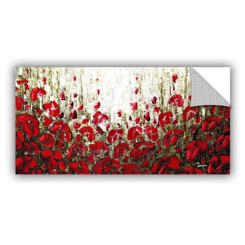 ArtAppealz Susanna Shaposhnikova's 'Olive Red Poppies' Removable Wall Art Mural