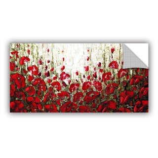 ArtAppealz Susanna Shaposhnikova's 'Olive Red Poppies' Removable Wall Art Mural