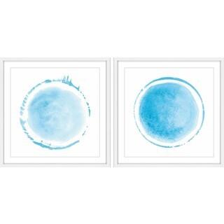 Light Blue Coronas Diptych