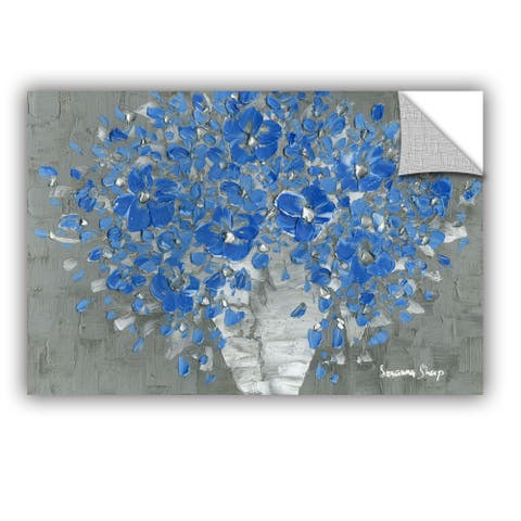 ArtAppealz Susanna Shaposhnikova's 'Blue Bouquet' Removable Wall Art Mural