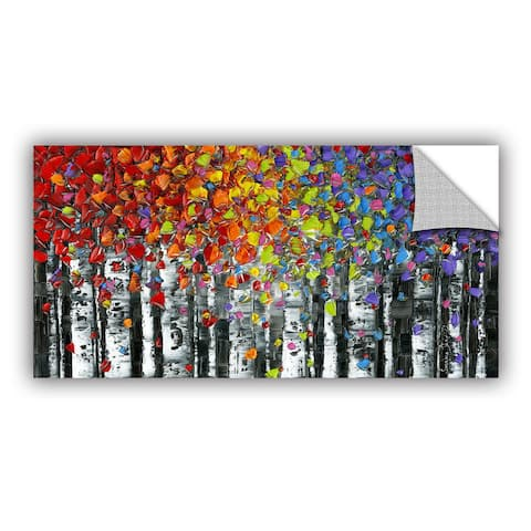 ArtAppealz Susanna Shaposhnikova's 'Birch' Removable Wall Art Mural