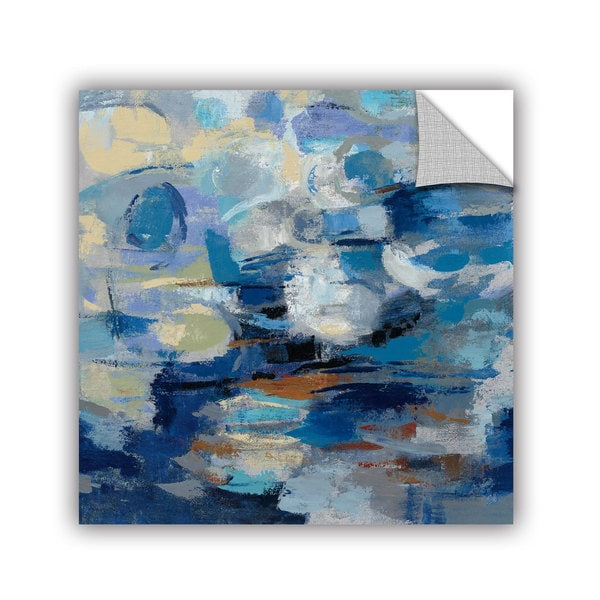 ArtAppealz Silvia Vassileva's 'Ultramarine Waves I' Removable Wall Art Mural