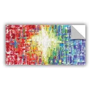 ArtAppealz Susanna Shaposhnikova's 'Abs Whtie Multicolor' Removable Wall Art Mural
