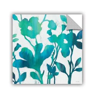 ArtAppealz Silvia Vassileva's 'Teal Trio V on White' Removable Wall Art Mural