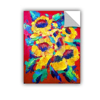ArtAppealz Susi Franco's 'Sunflower on Shingel Roof' Removable Wall Art Mural