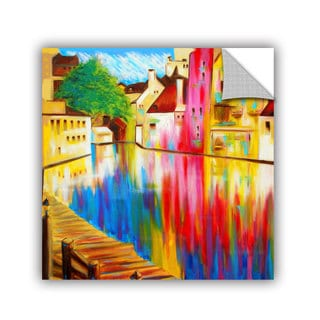 ArtAppealz Susi Franco's 'River Through Treviso' Removable Wall Art Mural